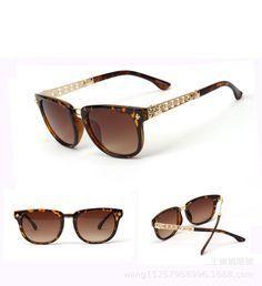 a172437838c Leopard frame Golden metal leg Brown Lens Super Fashion sun glasses 2014 new  brand designer women Oculos De sol Sunglasses €