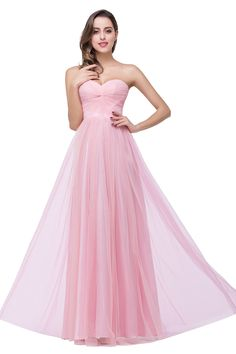 Elegant Sweetheart Pink Bridesmaid Dress 2016 Ruched Long Prom Gown