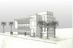 Estudos iniciais desenvolvidos a pedido do cliente para edificação de sua empresa - Immobile Arquitetura
