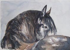 Wild Horse Painting. Original Equestrian Art. by CecileRancourtArt