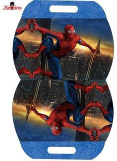 Spiderman: Free Printable Pillow Box.