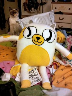 Cake the Cat  Adventure time Plush  made to by sappymoosetree, $40.00