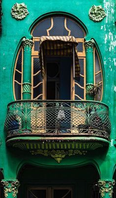 Jugendstil-Architektur in Havanna, Kuba Art Nouveau architecture in Havana, Cuba, Architecture Design, Architecture Art Nouveau, Beautiful Architecture, Beautiful Buildings, Roman Architecture, Balcon Juliette, Art Nouveau Arquitectura, Photo Blend, Design Art Nouveau