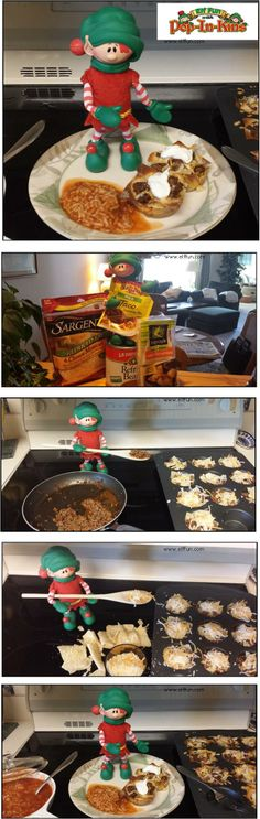 Christopher Pop-In-Kins makes Double Decker Taco Cupcakes from Christie Denney's blog The Girl Who Ate Everything   Delicious! http://www.elffun.com/category/recipes/