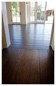 Dark Wood Wide Planks Without The Interruption Of Furniture Note The Direction Change At The Doorway Wood Floors Wide Plank Wide Plank Flooring Flooring