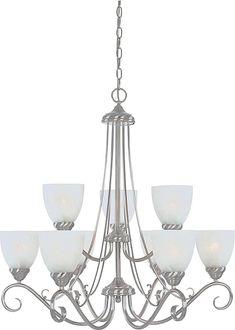Stratton 9-Light Shaded Chandelier #lighting #lights