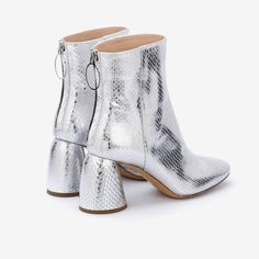 Class Ankle Boot Silver Elaphe Rat Snake, Python Snake, Calf Leather, Wearable Art, Calves, Minimal, Ankle Boots, Take That, Booty