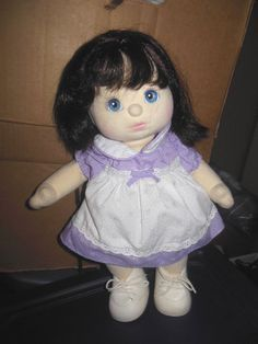 "Vintage Mattel 14"" MY CHILD DOLL 2 Tone Blond Hair Blue Eyes Original Outfit nr #Doll"