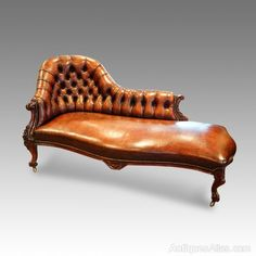 Victorian Furniture, Antique Furniture, Antique Couch, Chaise Sofa, Armchair, Coffee Shop Interior Design, Leather Chesterfield, Luxury Chairs, Lounge Furniture