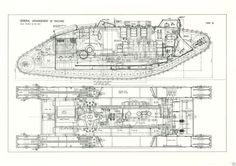 WWI MK IV TANK BLUEPRINT PLAN DRAWING rare detail LARGE A2 PRINT ww1 in Collectables, Militaria, World War I (1914-1918) | eBay