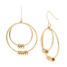 Kenneth Cole Women's Shaky Beaded Gypsy Hoop Earrings, Gold, One Size Kenneth Cole Gypsy, Hoop Earrings, Summer, Gold, Jewelry, Summer Time, Jewlery, Bijoux, Summer Recipes