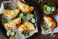 Take your favourite Indian curry on the go with these mildly spiced hand pies that make a perfect school or work lunch.
