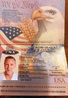 Passport Services, Passport Online, Stolen Passport, United States Passport, Passport Template, Ryan Thomas, Getting A Passport, Scammer Pictures, Canadian Passport
