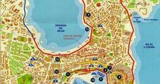 """LA CORUÑA : Es una ciudad, que como Santiago hay que """"pasearla"""". En el Paseo Marítimo (14 km peatonales en total) podréis ver en su... Wanderlust, Map, Walks, Saint James, Cities, Viajes, Location Map, Maps"""