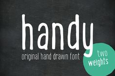 Handy - the hand drawn font by Vítek Prchal on Creative Market