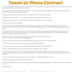 "Having a cell phone or smartphone opens up a whole new world for tweens and teens. Parents and kids need to be on the same page – literally – and this phone contract can help achieve that both with actual logistics as well as a broader idea of what phone behavior is acceptable, and what... <a href=""http://www.chicagonow.com/tween-us/2014/01/parent-child-phone-contract/"" class=""more-link"">Read more »</a>"