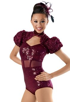 Sequin Ribbon Shrug Leotard -Weissman Costumes