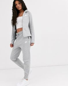 Shop the latest Nike gray Tech Fleece sweatpants trends with ASOS! Free delivery and returns (Ts&Cs apply), order today! Nike Tech Tracksuit, Nike Women Sweatpants, Gray Sweatpants, Fleece Joggers, Nike Outfits, Swag Outfits For Girls, Nike Tech Fleece, Asos, Fashion Clothes