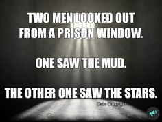 Lesson: don't go to jail! :D Honestly though, I like the second man's perspective a whole lot better!