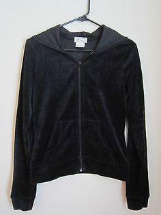 Blue Chic Soft Black Velour Feel Jacket and Pants Set Size Med | eBay