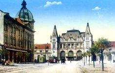 Timisoara - Gara - 1917 Postcards, Buildings, Mansions, House Styles, Places, Pictures, Photos, Manor Houses, Villas