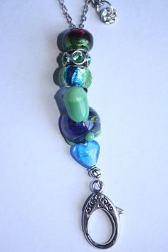 18 inches Blue Turtle Bead Chain Lanyard by TreasuresbyCam on Etsy