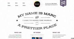Vintage Style Typography - Web Design