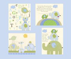 Nursery Art Prints Kids Wall Decor Baby Boy by DesignByMaya, $65.00