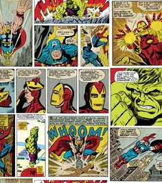 Marvel Comic Fury Cotton Fabric