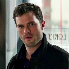 I'm the boyfriend. Christian Grey, Jamie Dornan, Fifty Shades Darker, Fifty Shades Of Grey, Gorgeous Eyes, Beautiful Men, Fifty Shades Series, Anastasia Grey, Mr Grey