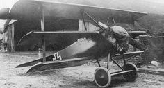 Fokker Dr.1, red painted and used by von Richthofen the Red Baron in WWI
