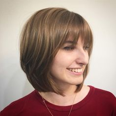 Classic Bob Hairstyle for Women 2020 46 Cute Bob Haircuts with Bangs to Copy In 2020 Of 98 Wonderful Classic Bob Hairstyle for Women 2020 Bobbed Hairstyles With Fringe, Fringe Haircut, Bob Hairstyles With Bangs, Bob Haircut With Bangs, Classic Hairstyles, Hairstyles Haircuts, Bangs Hairstyle, Hairstyle Ideas, Bob Fringe