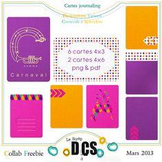 free journal cards - Alinamaria, un scrap nomade...: DCS...des cartes pour se souvenir !