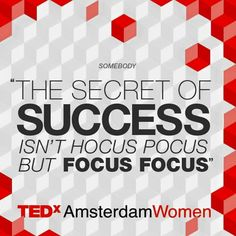 Let's kick off the week with focus focus instead of hocus pocus. Have a great week everyone!