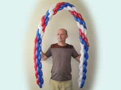 how to make a balloon column without pole