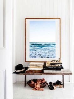 Happiness Tip: Put an inspiring piece of art in your entry way. You'll feel delighted every time you enter your home :)