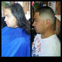 Before and after #fade #barber