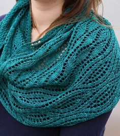Free Knitting Pattern for Estuary Shawl - Lace shawlette designed by Emily Wessel.