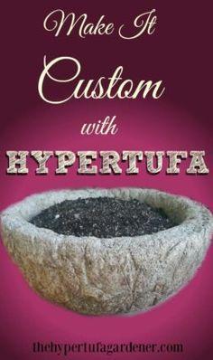 Make it Custom with Hypertufa - The Hypertufa Gardener.com