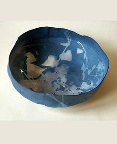 Cyanotype ceramic - Deidre Hawthorne