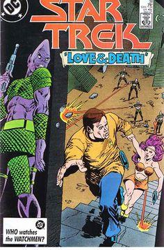 "Comic Book Vintage DC STAR TREK ""Love & Death"" #38 May 1987,  C45 A2"