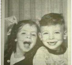 A little Bruce Springsteen with his sister!