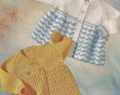 PDF Knitting Pattern Baby Matinee Coat Jacket by georgie8109