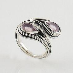 Rose Quartz Sterling Silver Wrap Ring