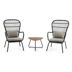 Belham Living Braylen All Weather Wicker Outdoor Chat Set | Hayneedle