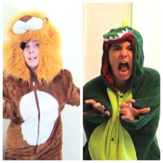 The Danosaur (Dan Howell) and the Phillion (Phil Lester) <3 this is so funny I'm so happy this finally happened