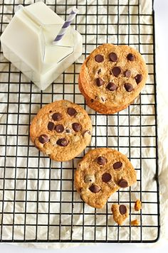 Malted salted chocolate chip cookies!