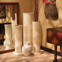 Decorative Faux-Stone Column   |    Wish we found this before our wedding so we could've made our own!