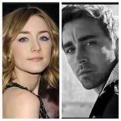 """Who I pictured as Paige and Warden in """"The Bone Season"""" by Samantha Shannon (Saoirse Ronan and Lee Pace) ((alternate casting for Warden: Michael Fassbender))"""