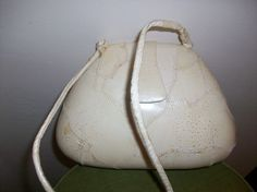 Vintage Cream Ostrich Leather Purse By Just Bags by HeartsMaddness, $17.00